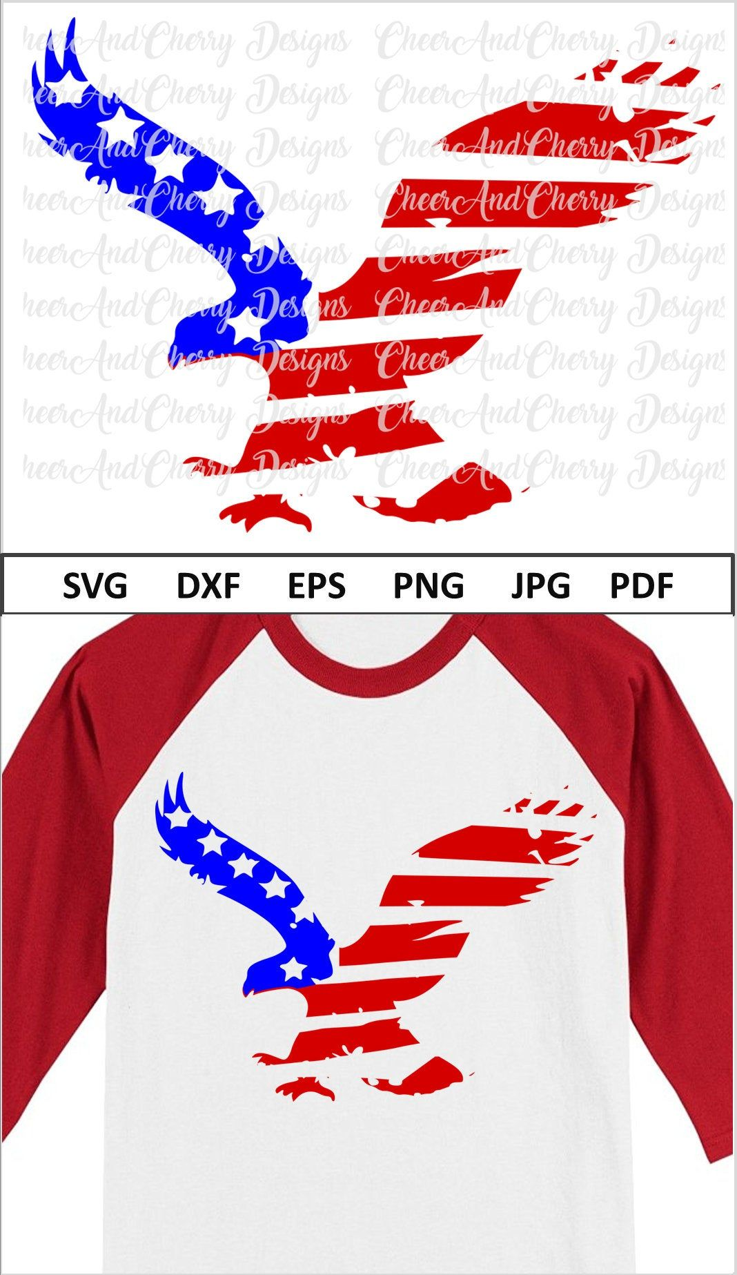 American Eagle Svg Dxf Png Jpg Distressed Eagle with