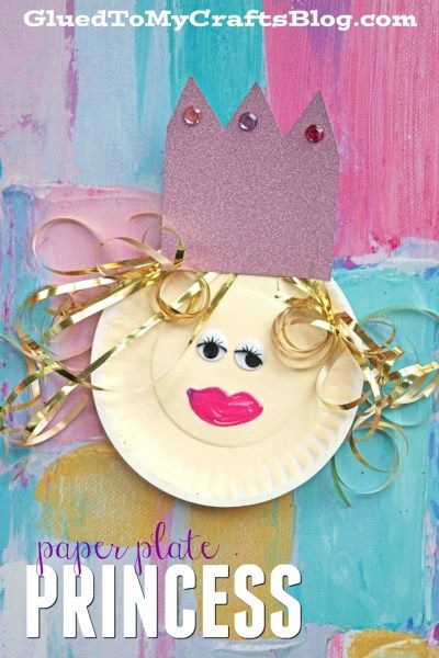 Simple Paper Plate Princess - Kid Craft - Glued To My Crafts & Simple Paper Plate Princess - Kid Craft | Princess Craft and Paper ...