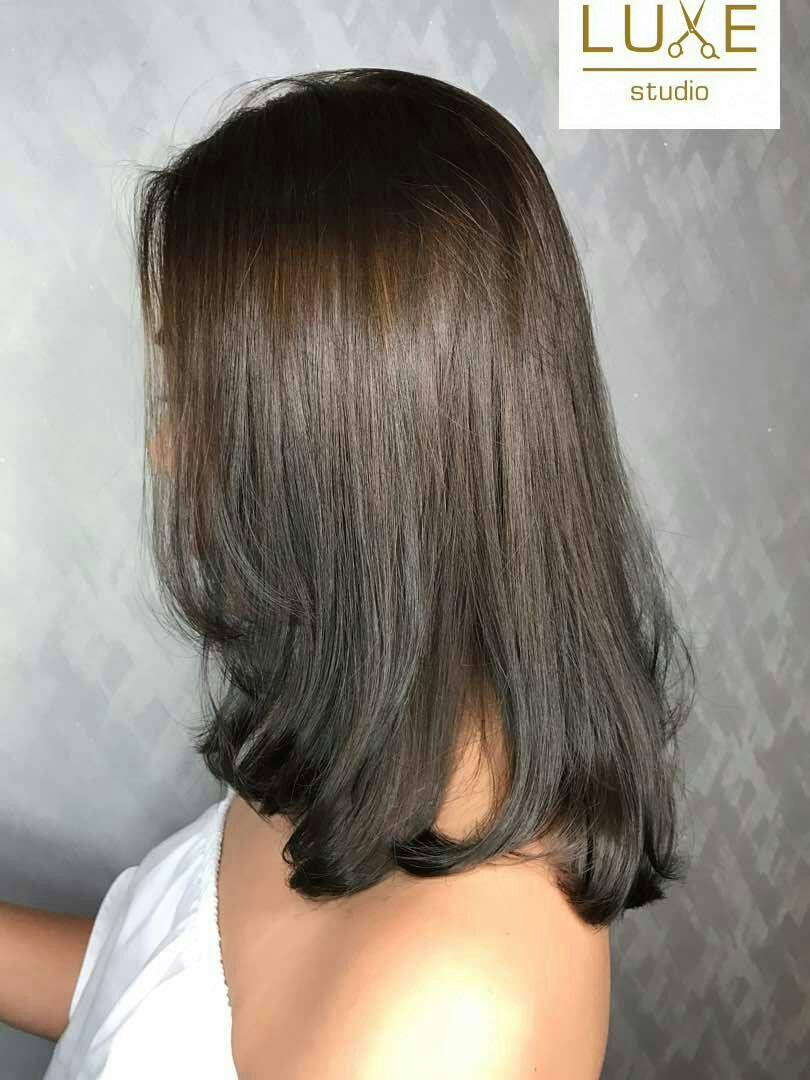 re-texture bonding korean style with c curve matt blonde