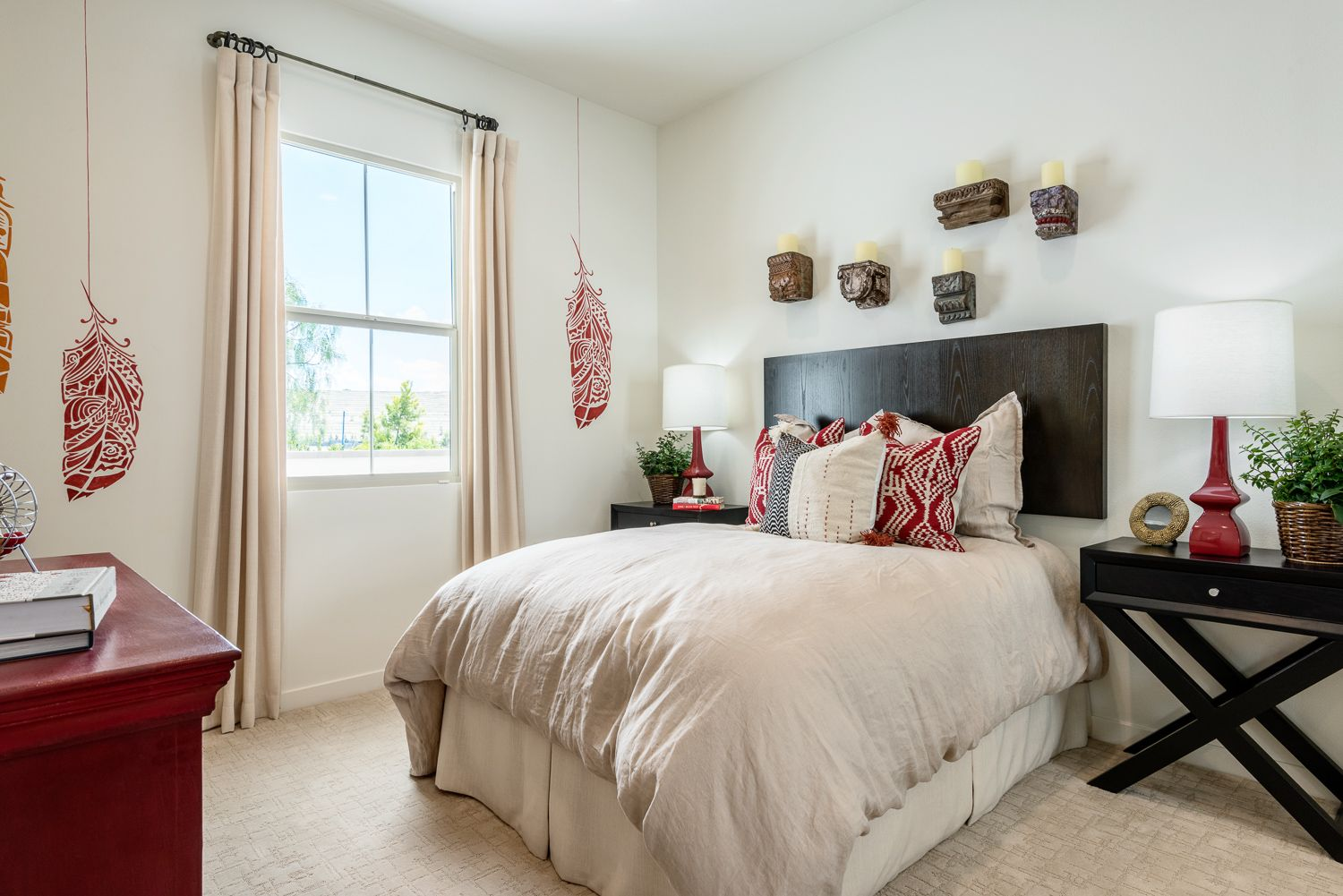 Interior design for double bedroom flat residence two at the vine at portola springs in irvine ca