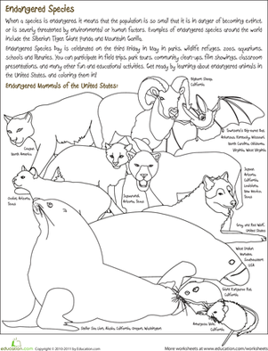 Endangered Species Coloring Page Extinct AnimalsIdeas