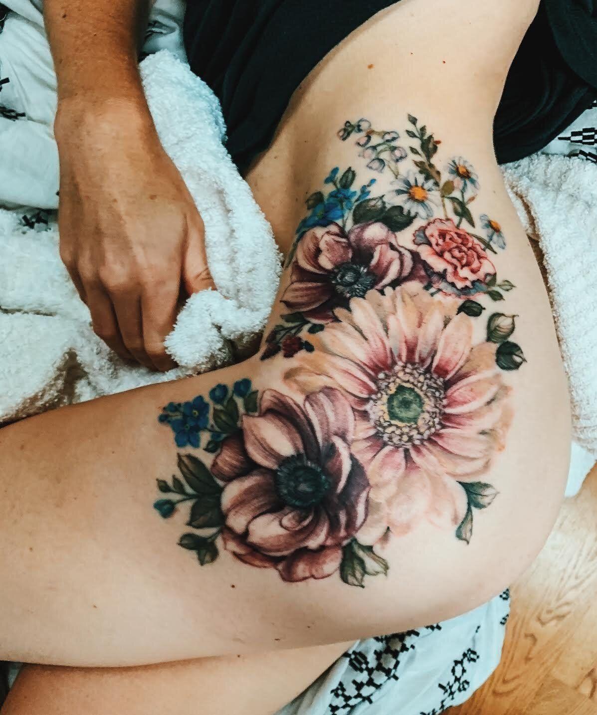 Vintage Floral Tattoo Ideas