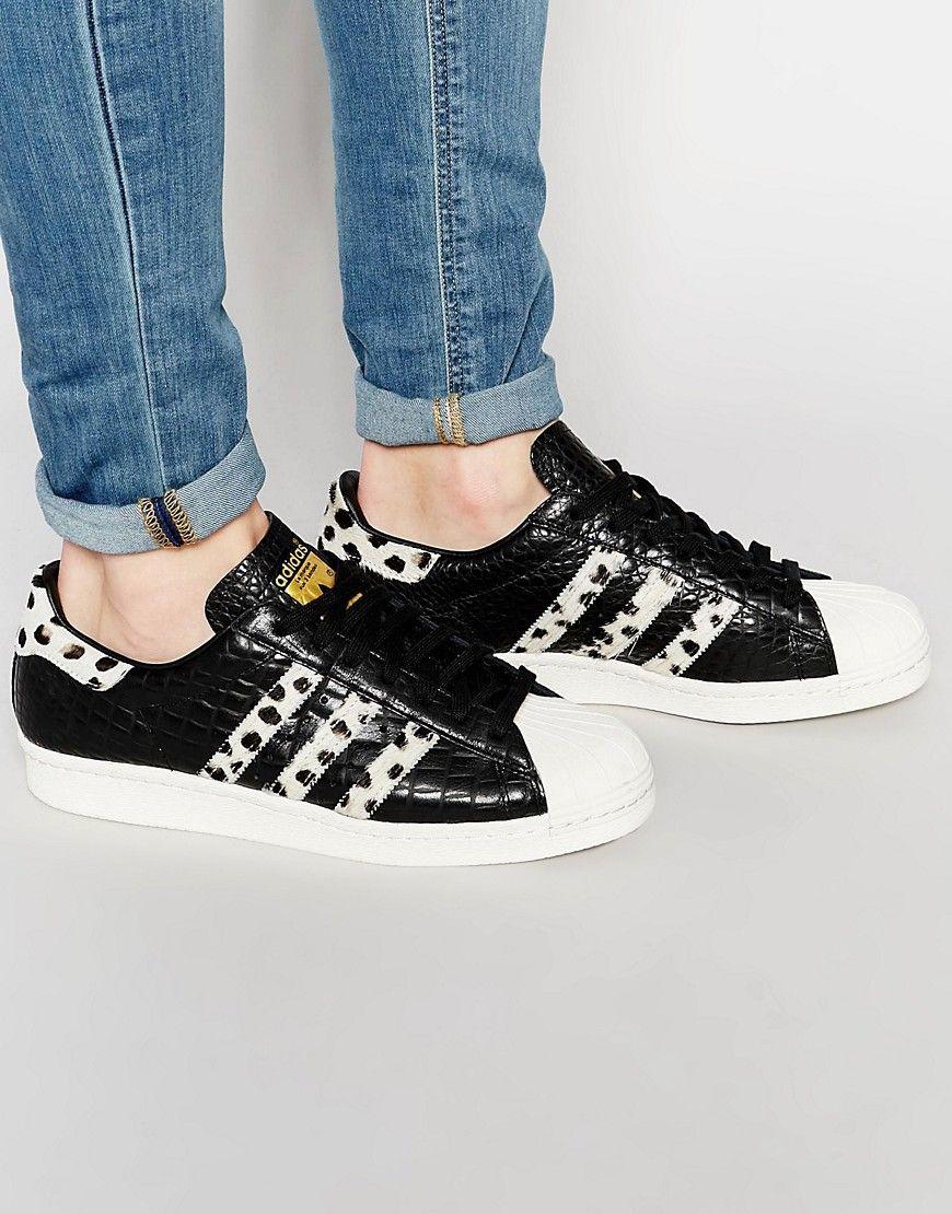 adidas+Originals+Superstar+80 s+Pony+Effect+Trainers+S78956   me ... ad2775655e