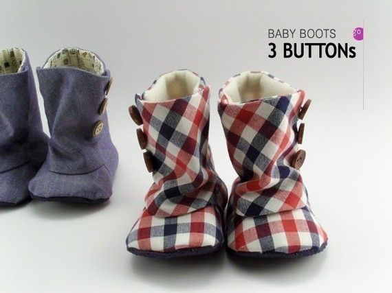 no 93 Baby 3 Button Boots PDF Pattern by sewingwithme1 on Etsy ... d5781406bb9f