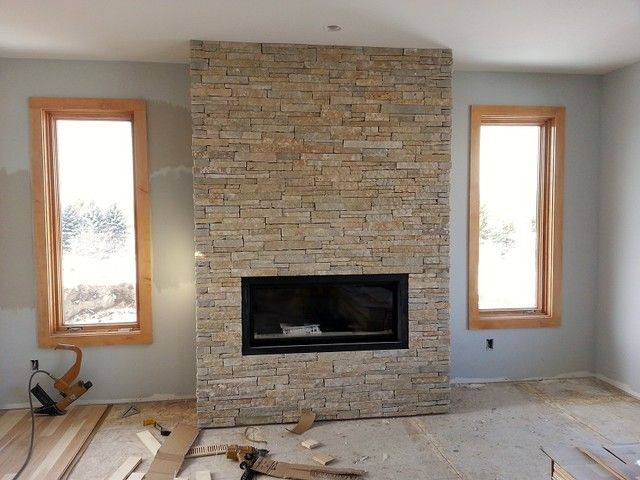 Natural Stone Tile Fireplaces