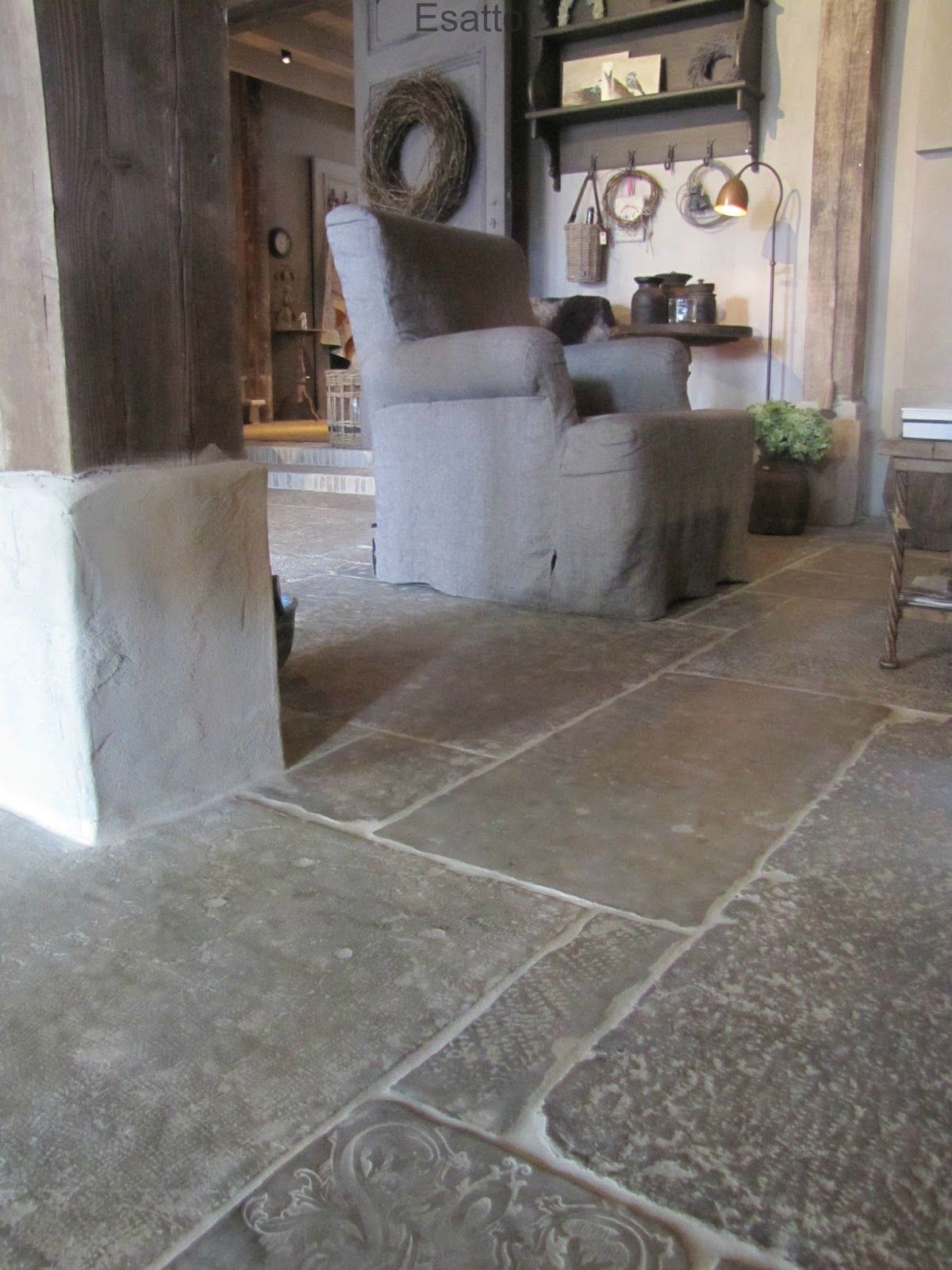 Esatto castle stones vloeren pinterest vloeren landelijk wonen en tegel - Keuken met cement tegels ...