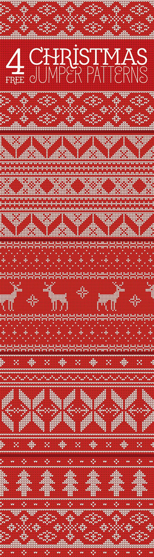4 kostenlose Jumper Patterns im weihnachtlichen Look | Creative ...