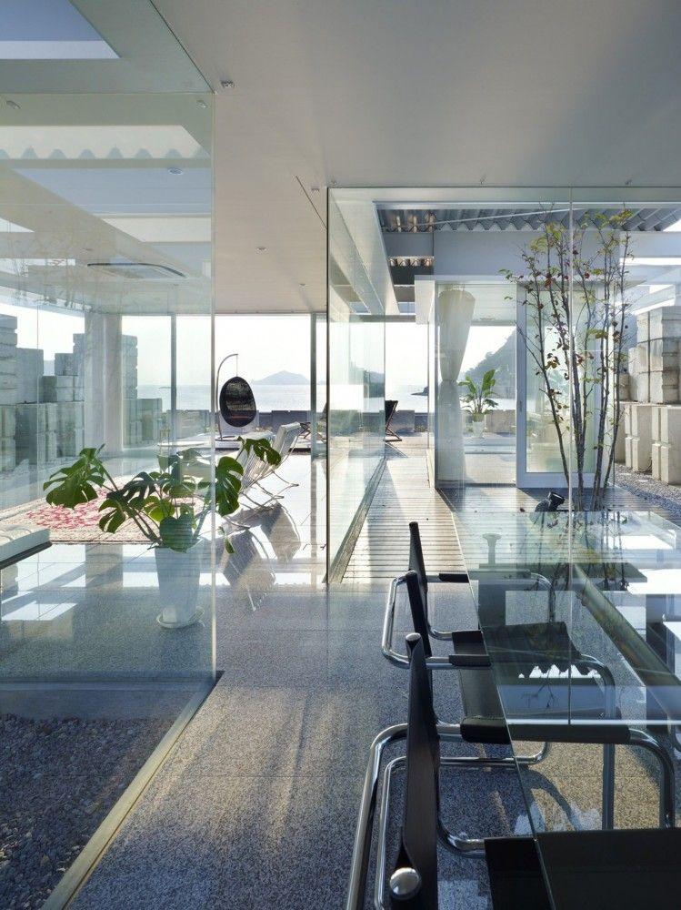 Glass House For Diver Naf Architect Design Modern Glass