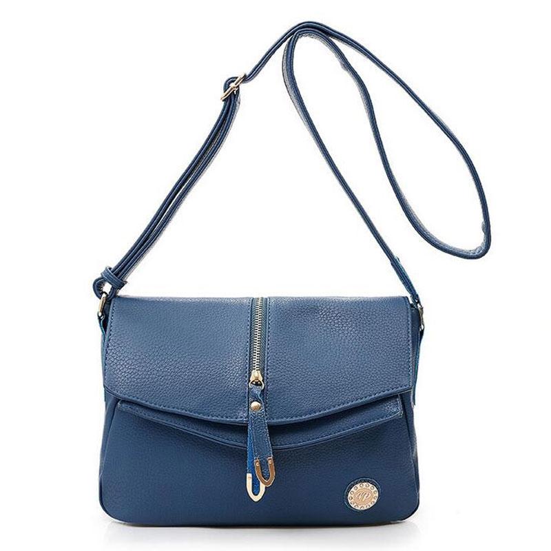 27.10$  Know more  - Vintage Leather Women Messenger Bag Solid Clamshell Crossbody Shoulder Bags Handbag
