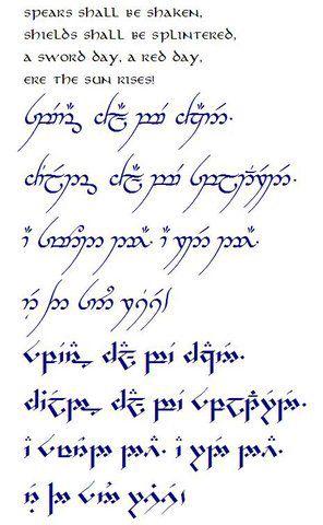 Tolkien | Elvish tattoo, Elvish writing, Elvish language