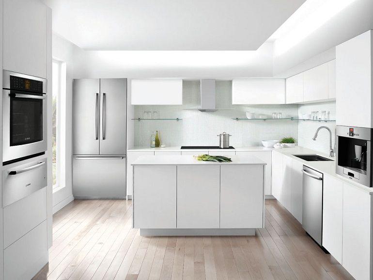 Cocinas peque as en forma de l cincuenta dise os hogar for Diseno de cocinas pequenas en forma de l