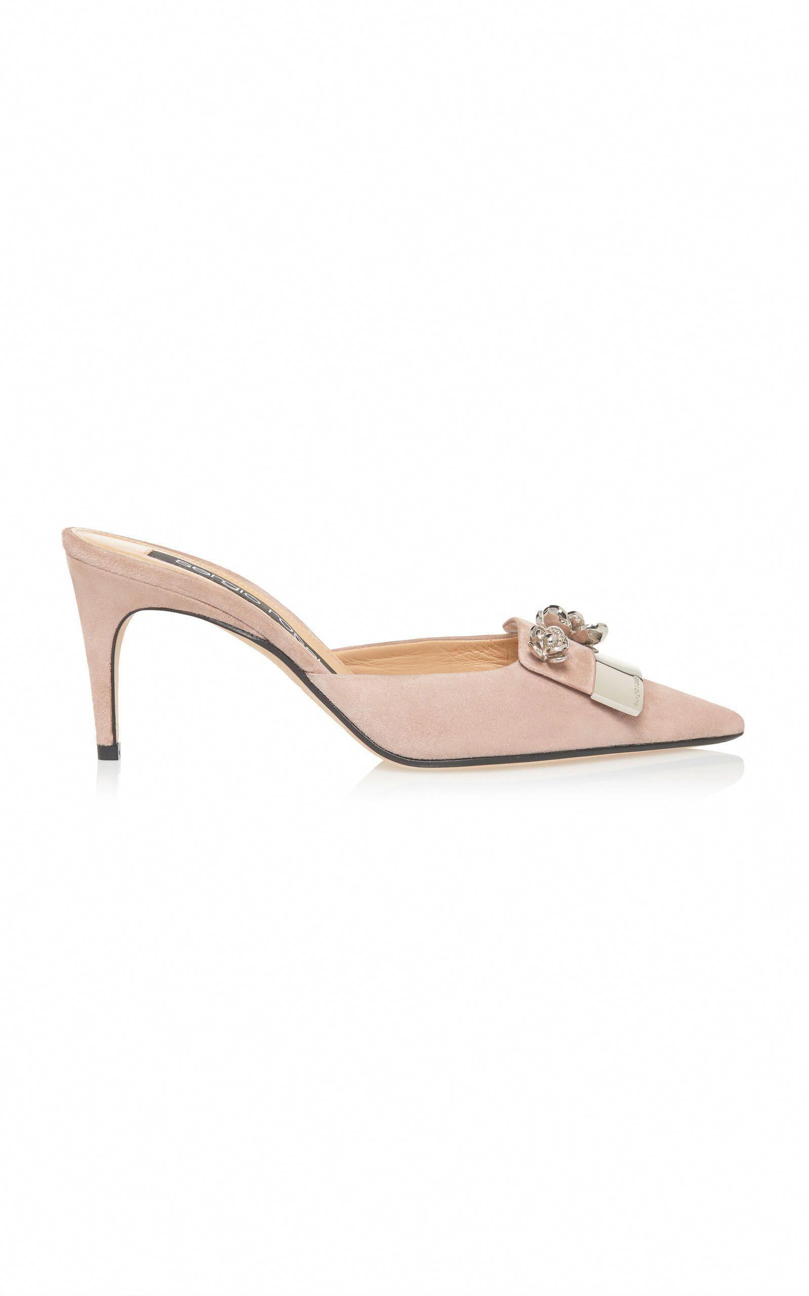 a0b6f6ac3bd SERGIO ROSSI SR1 SUEDE MULE.  sergiorossi  shoes