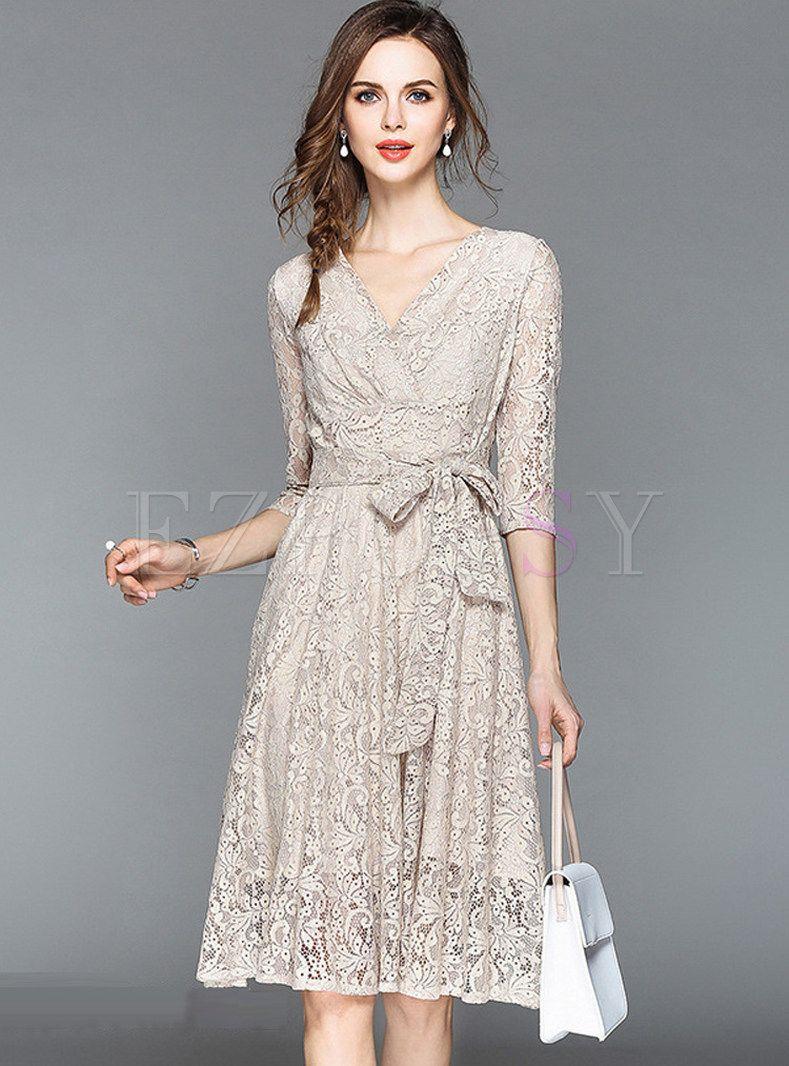 11+ Lace a line dress ideas