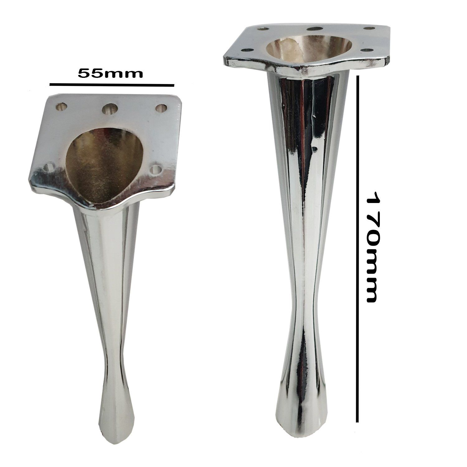 Photo of 4x METAL FURNITURE FEET/LEGS REPLACEMENT FOR SOFAS, FOOTSTOOLS