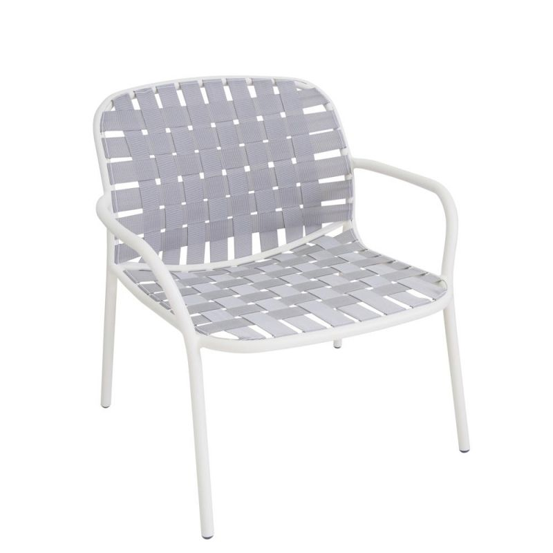 2 Stuck Emu Yard Loungesessel Mit Gurtgeflecht Stapelbar Lounge Sessel Stuhle Sessel