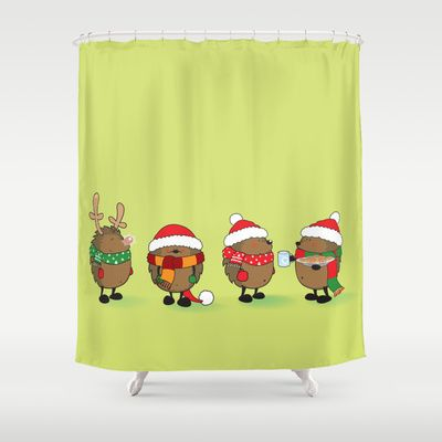 Ready for Christmas Shower Curtain by mangulica - $6800 SHOWER