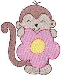 Monkeying Around Three 8 - 2 Sizes! | Floral - Flowers | Machine Embroidery Designs | SWAKembroidery.com Bunnycup Embroidery
