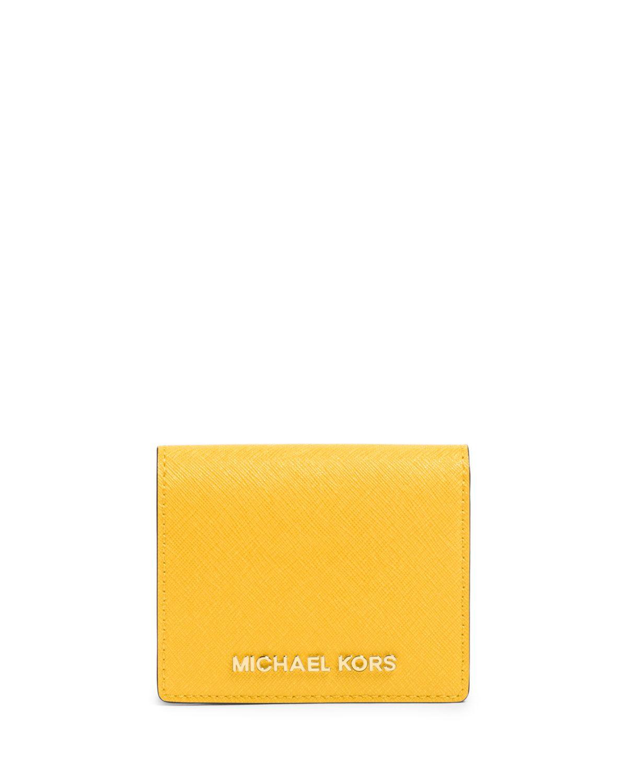 dcd6d8dfce4c Jet Set Travel Saffiano Card Holder Sunflower | *Handbags, Wallets ...