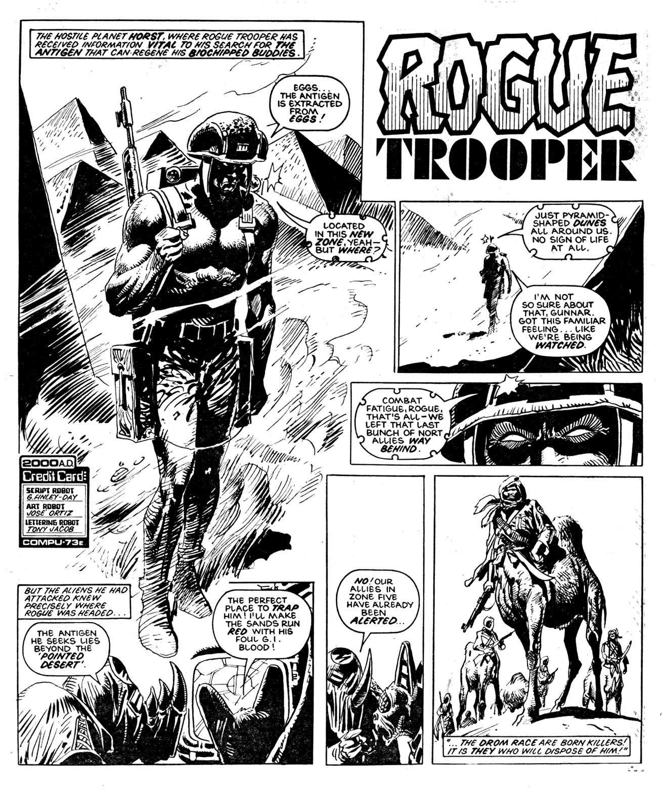jose ortiz Comics, Trooper, 2000ad
