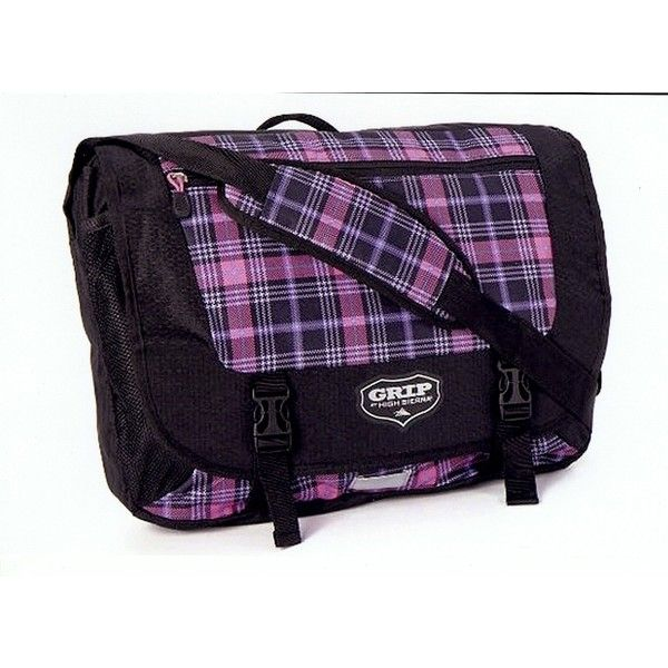 Grip by High Sierra Payback Messenger Bag Punk Plaid/Black ($23) ❤ liked on Polyvore featuring bags, messenger bags, courier bag, black bag, plaid messenger bag, sports bag and black messenger bag
