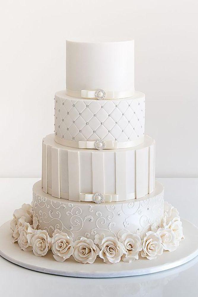 24 Simple, Elegant, Chic Wedding Cakes | Elegant chic, Wedding ...