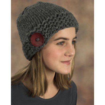 Plymouth Yarn F379 Button Hat Free Knit Pinterest