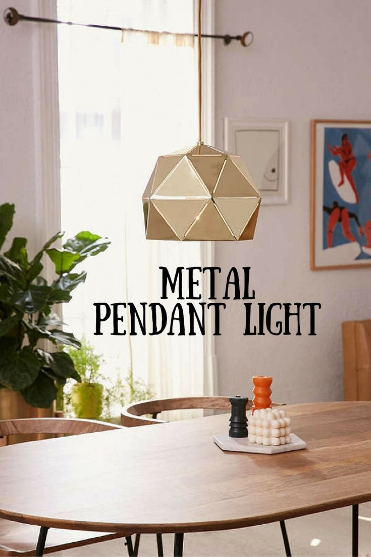 Edna metal pendant light add structural intrigue to your kitchen