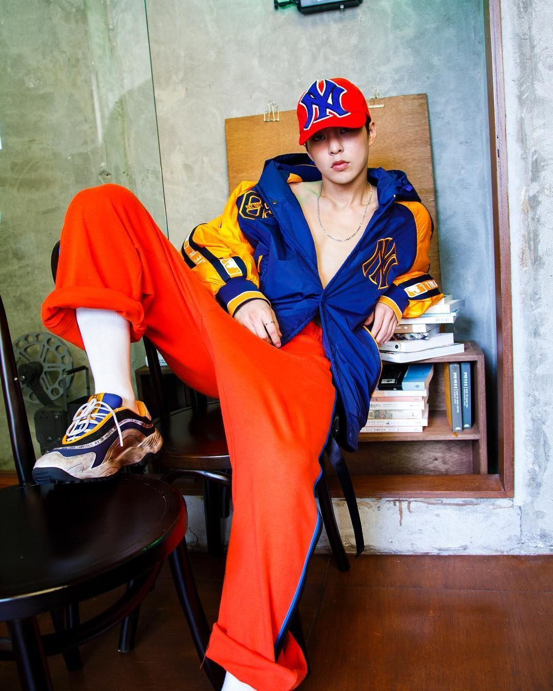 Mlb X Exo Xiumin F W Collection Photoshoot Exo Xiumin Exo Kim Minseok Exo