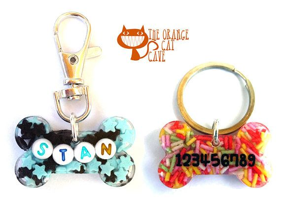 Resin Fursuit Collar Tags and Keychains