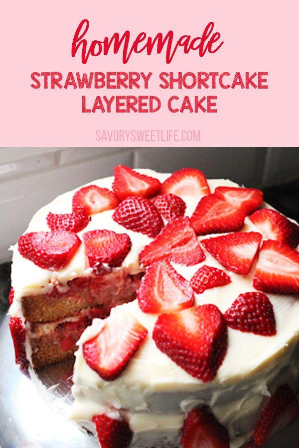 Magnificent Strawberry Shortcake Cake Recipe Homemade Strawberry Shortcake Personalised Birthday Cards Veneteletsinfo