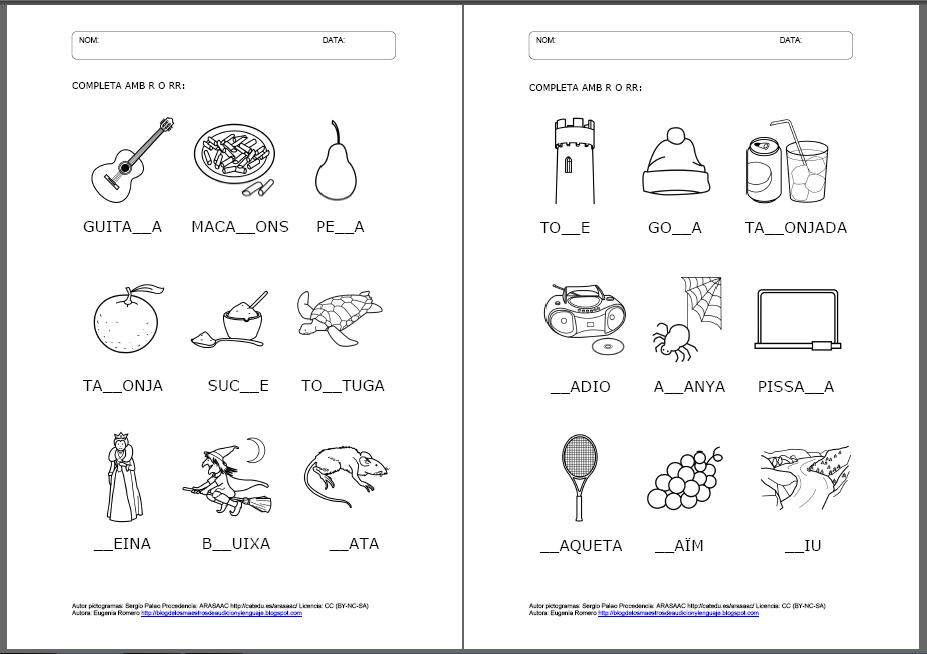actividades para completar con la letra r - Buscar con Google | may ...