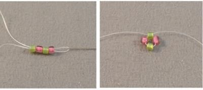Single Needle Right Angle Weave Beading Stitch Tutorial: Getting Started and Making the First Unit