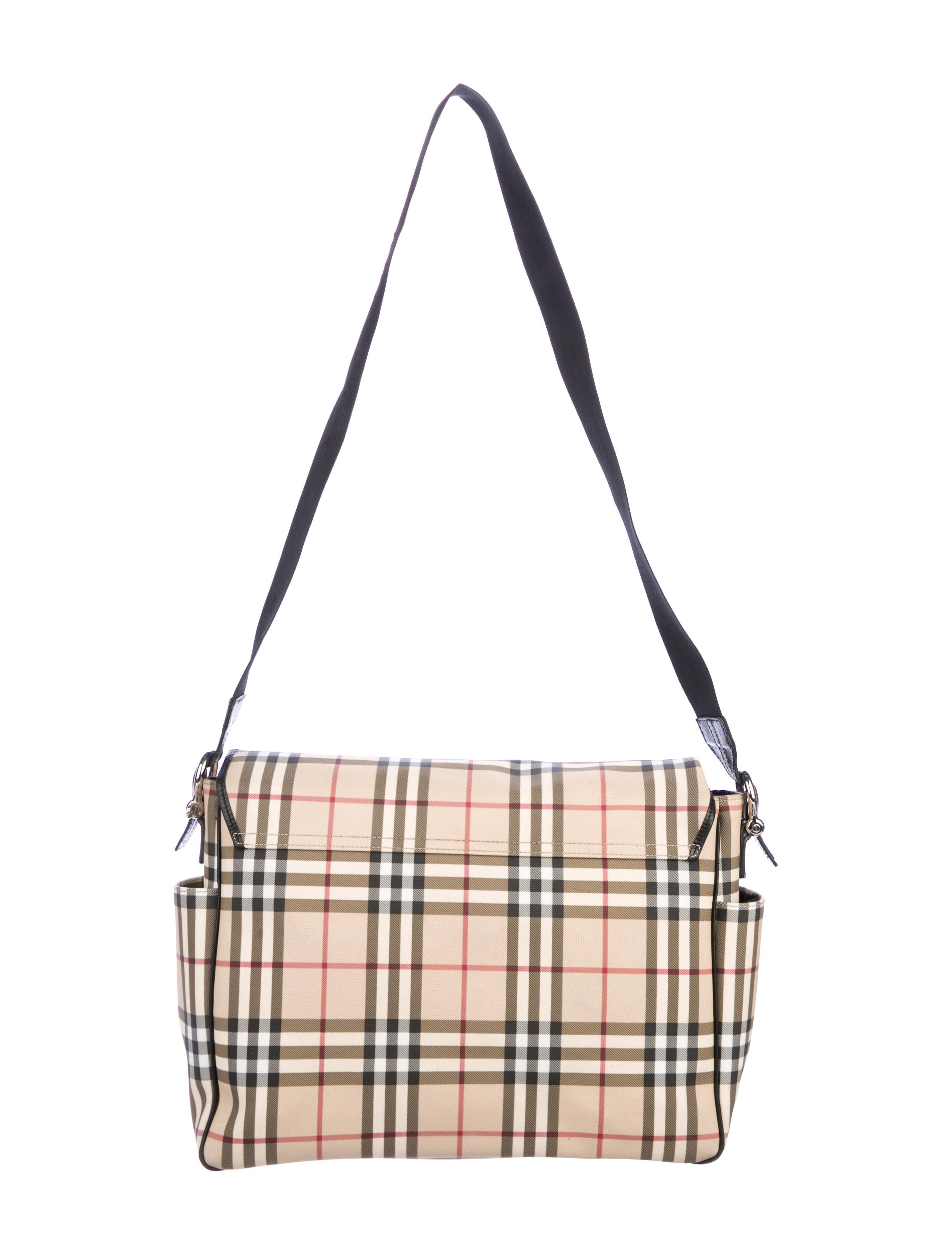 ae5caaac1b75 Beige and multicolor House check coated canvas Burberry London messenger bag  with silver-tone hardware