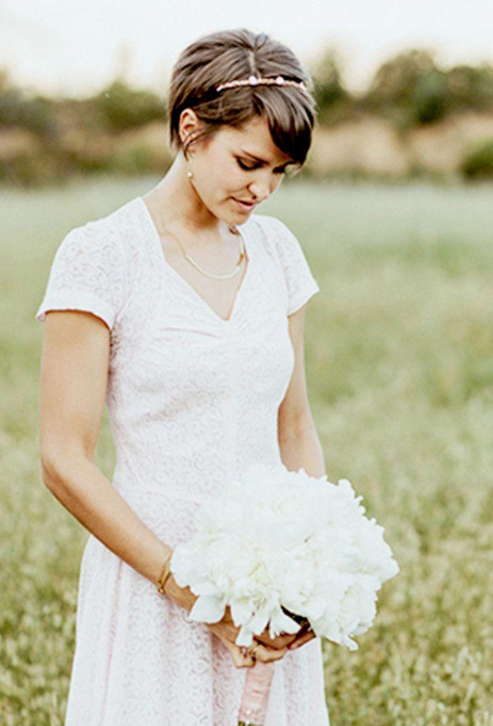 Une mariée aux cheveux courts Les Petites Mariées