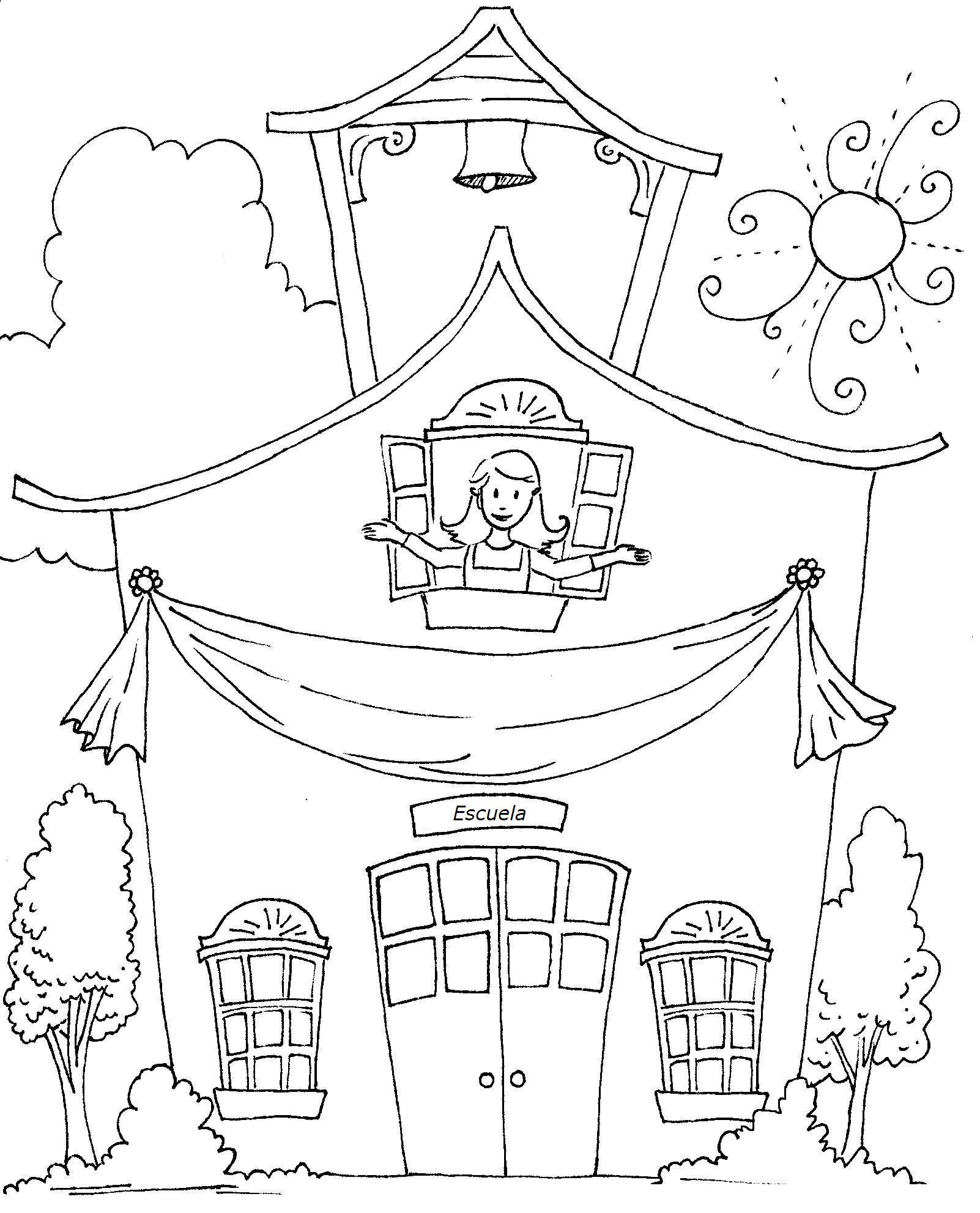 imagen de escuelas para colorear archivos dibujos