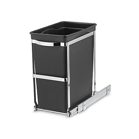 Pull Out 30 Liter Waste Basket Is Great For Saving Space. All You