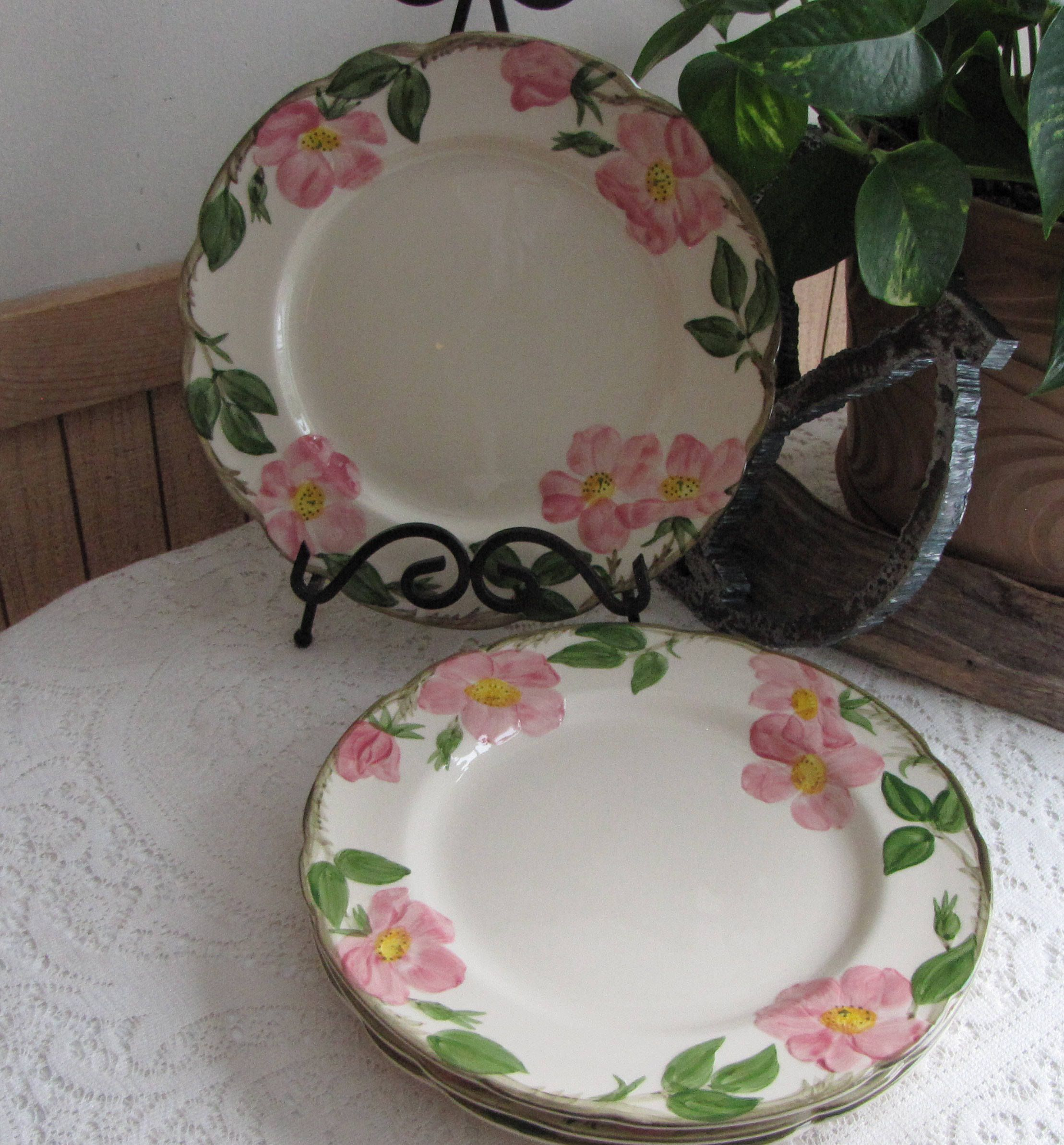 Franciscan Desert Rose Dinner Plates Vintage Dinnerware and Replacements Set of Four (4) Made & Franciscan Desert Rose Dinner Plates Vintage Dinnerware and ...