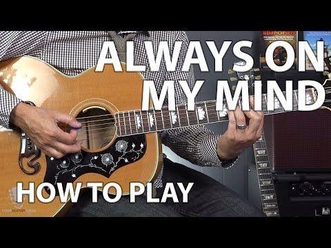Always On My Mind By Elvis Presley Beginner Guitar Lesson