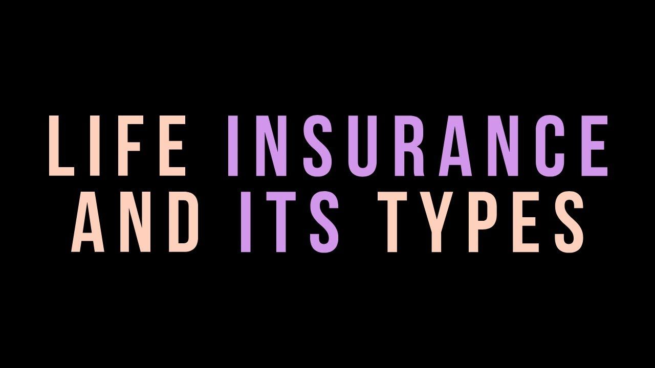 Life Insurance And Various Types Of Life Insurance Hsc Class 12