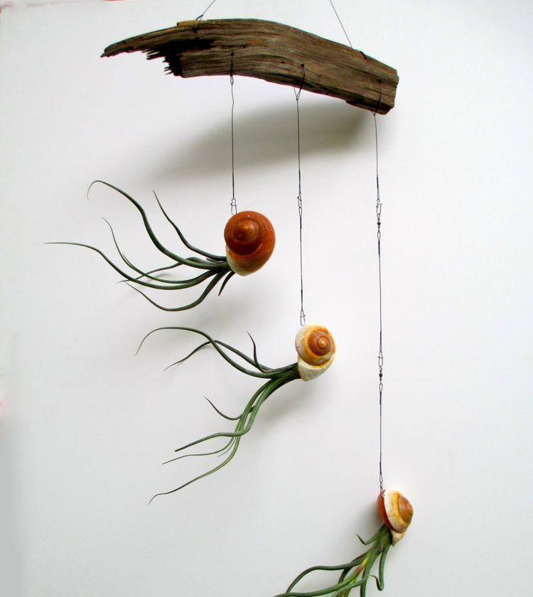 Deko Flora Line besonders künstlerisch mutete diese deko idee an die leeren