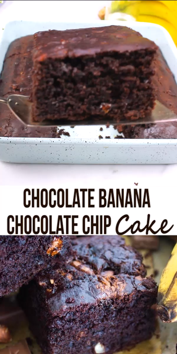 Double Chocolate Banana Cake -   16 desserts Fancy cake ideas