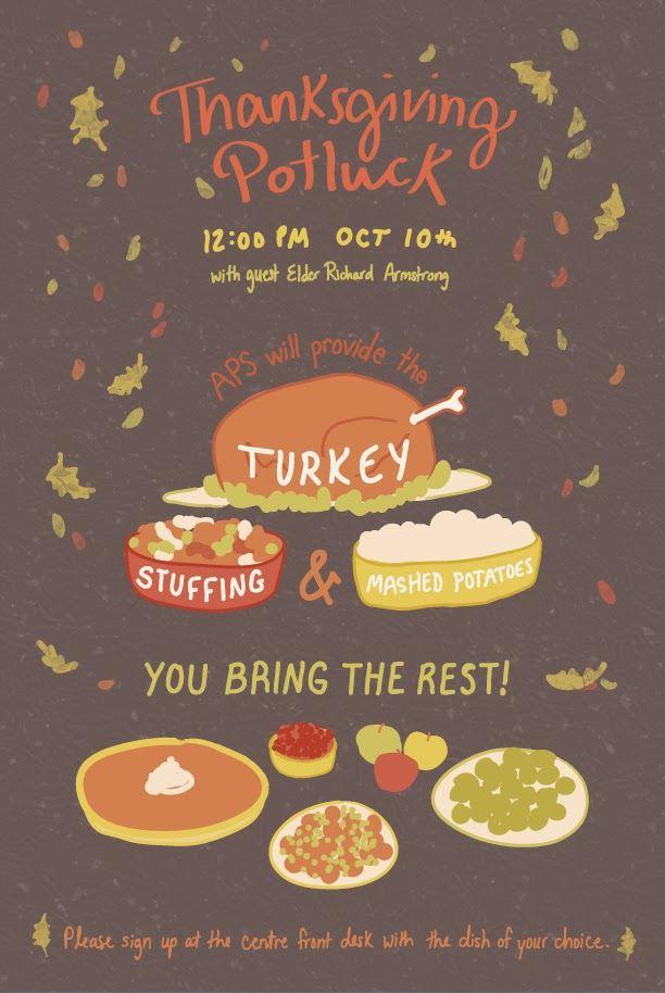 Thanksgiving Potluck Flyer Template Free Thanksgiving