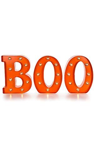 LED Light Up Metal BOO Marquee by Darice Halloween Decorations Decor