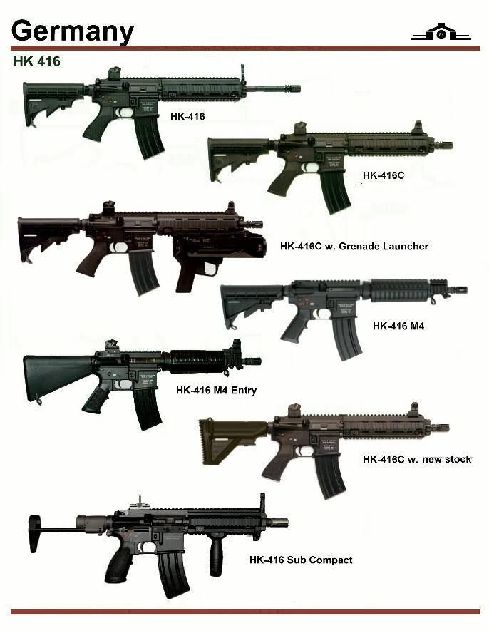Germany: HK 416 | weaponry | Weapons guns, Guns, Weapons
