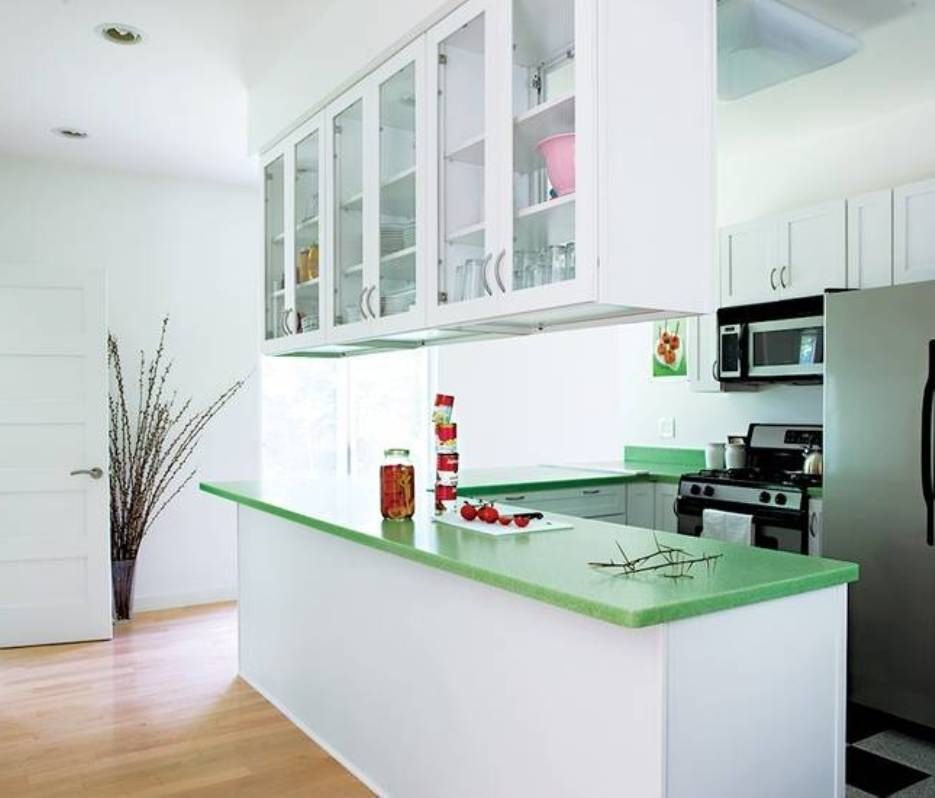 White Hanging Cabinets For Small Kitchen