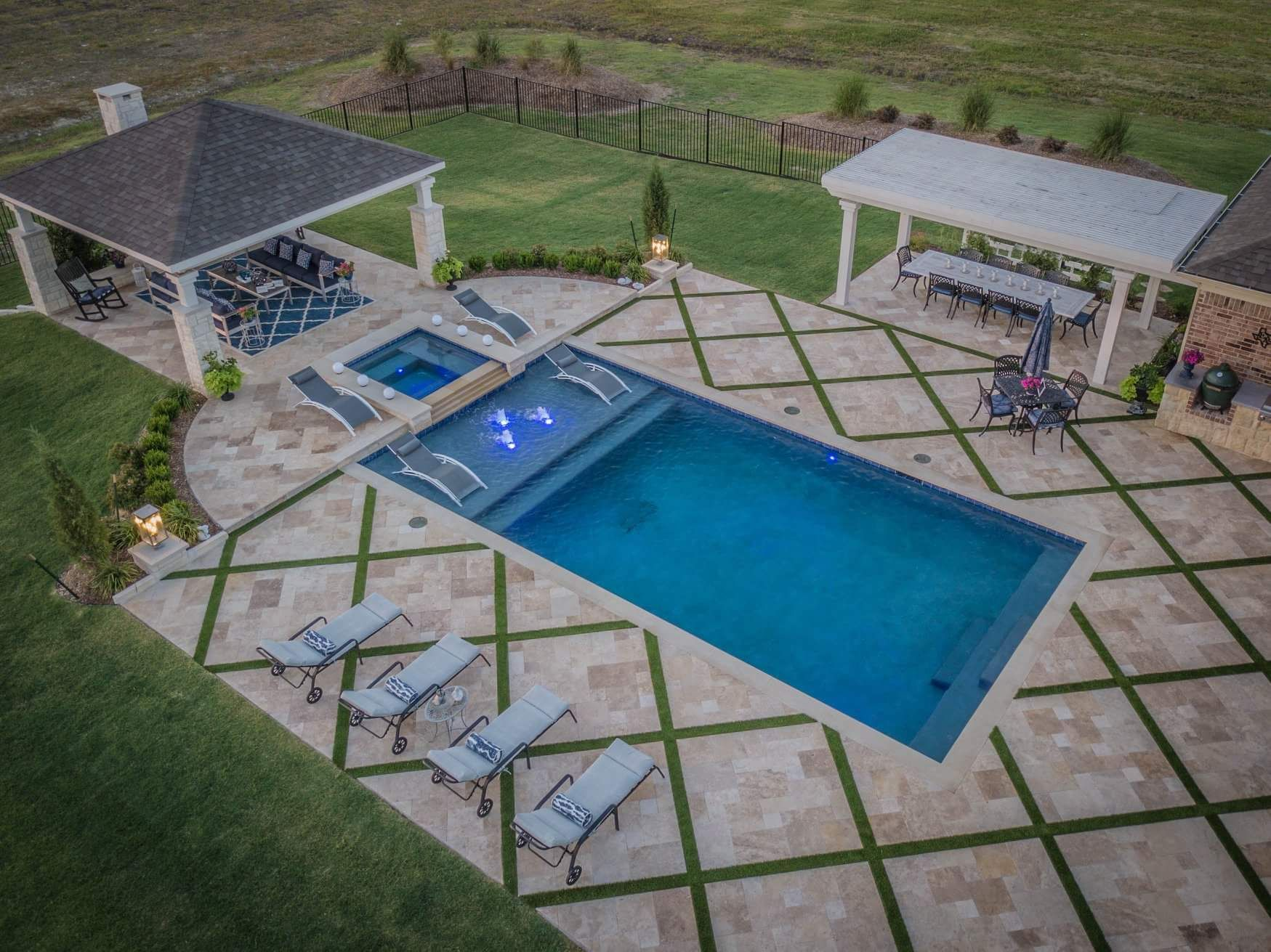 Gorgeous Decking Backyard Pool Landscaping Swimming Pools