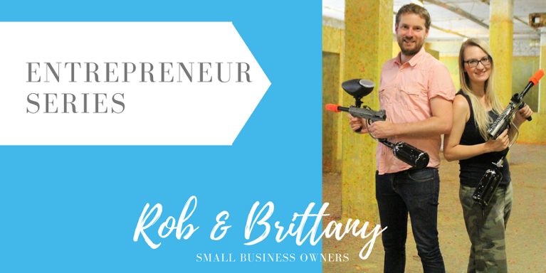 Meet Rob Davy and Brittany Anderson, owners of several paintball and laser tag centres. We asked the pair to give us some insight on what it's like to be small business owners.