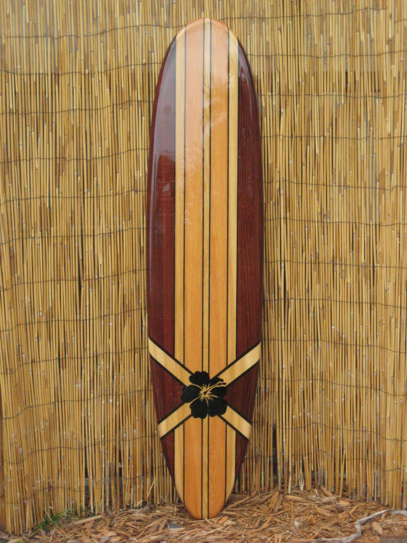 Wooden Decorative Surfboard Wall Art Wall by TikiSoulSurfboards, $138.00