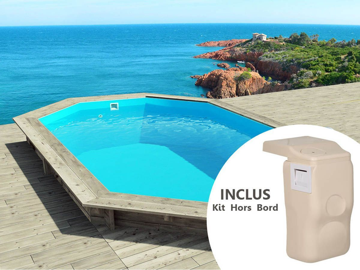Piscine bois cancun pas cher x x m kit for Promotion de piscine