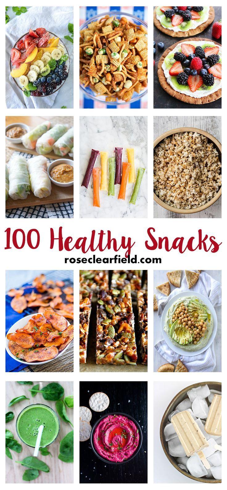 100 Healthy Snacks | http://www.roseclearfield.com